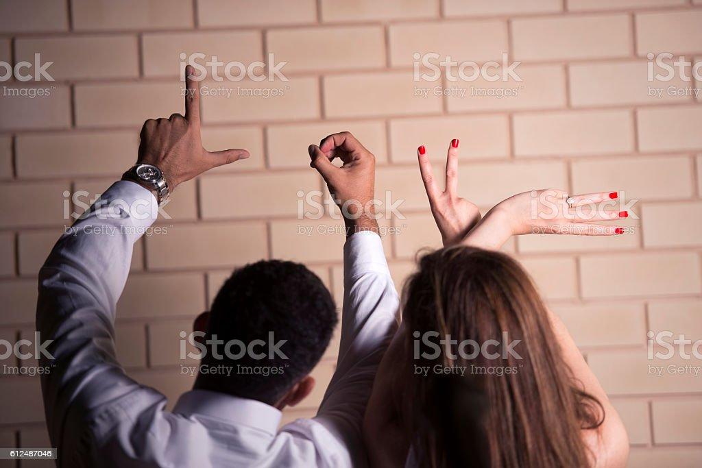 Love hand gesture. stock photo