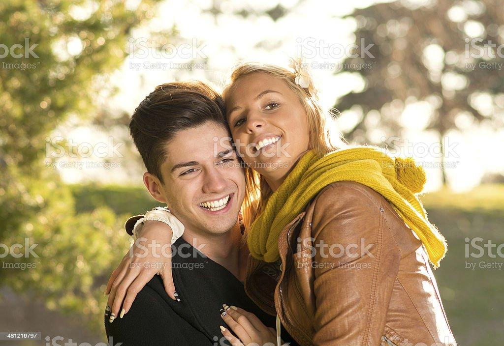 Love happy couple stock photo