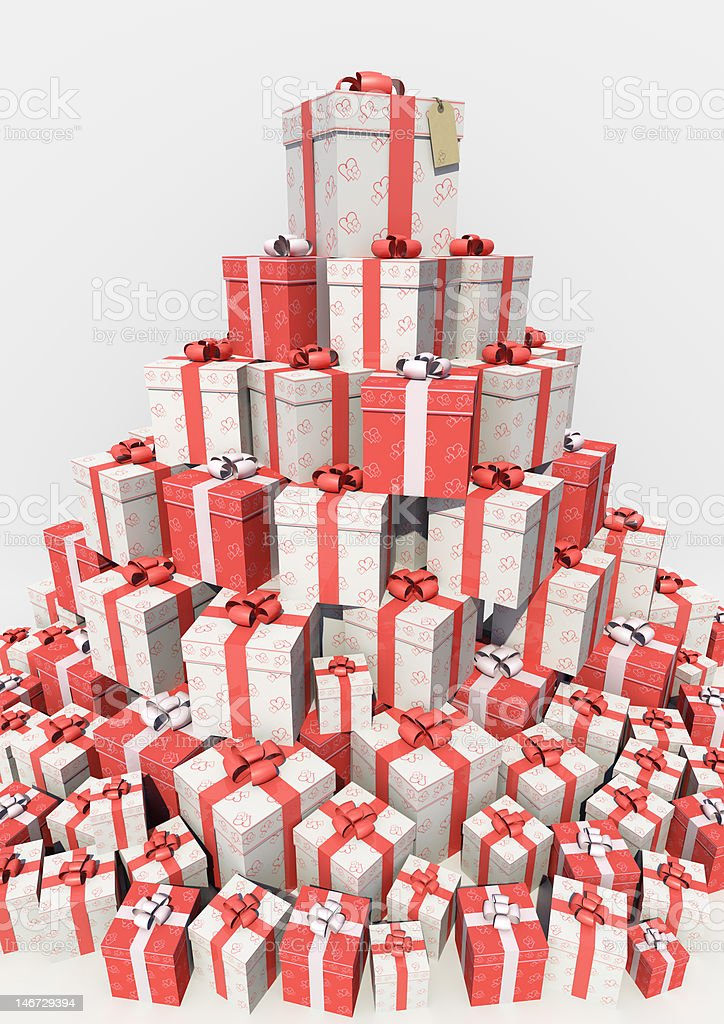 Love Heart Box - Stacked royalty-free stock photo