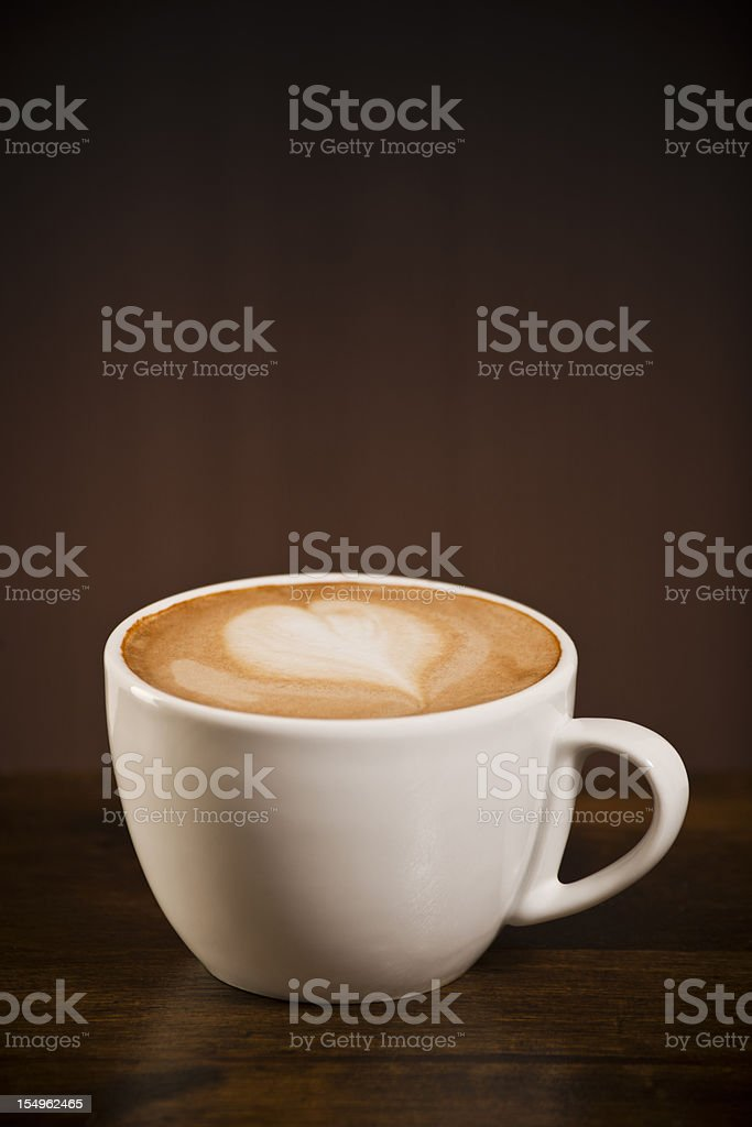 Love heart coffee royalty-free stock photo