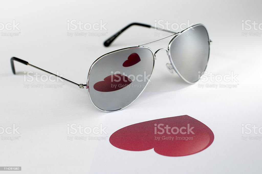 Love heart feeling in sunglasses royalty-free stock photo