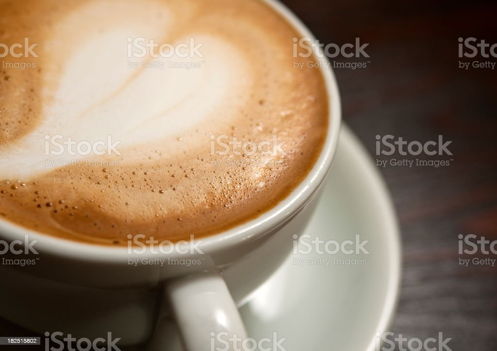love heart latte art royalty-free stock photo