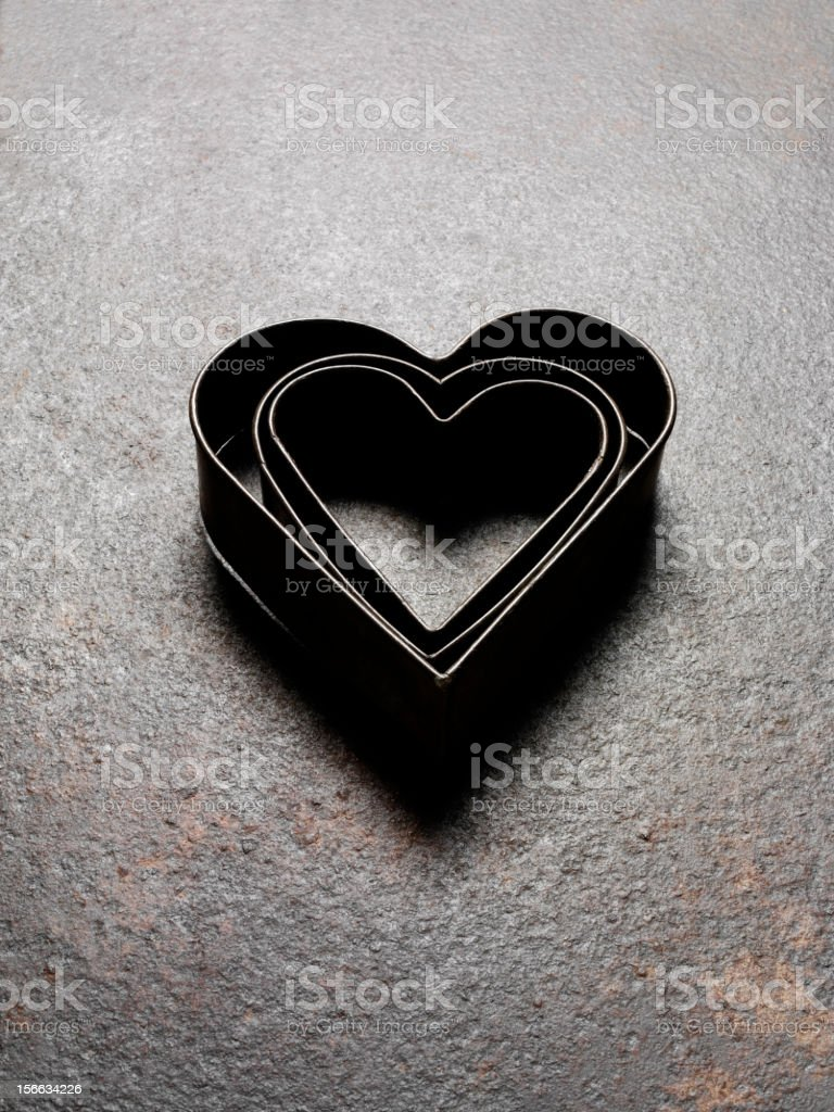 Love Heart Pastry Cutters royalty-free stock photo