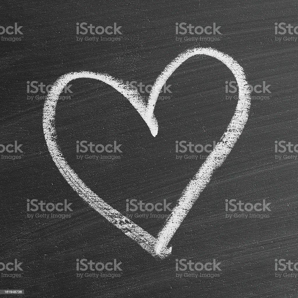 love heart symbol on a blackboard stock photo