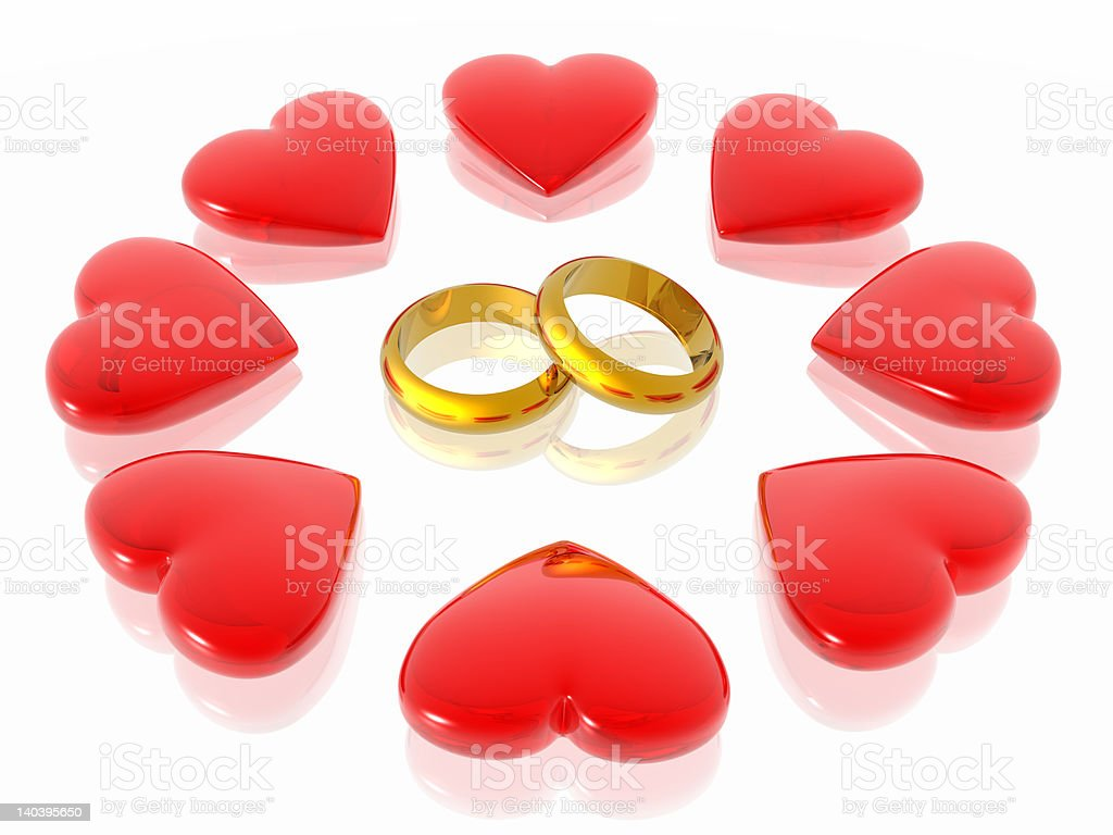 Love & hearts royalty-free stock photo