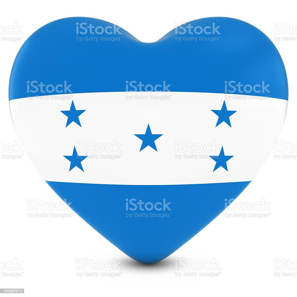 Love Honduras Concept Image - Heart textured with Honduran Flag stock photo