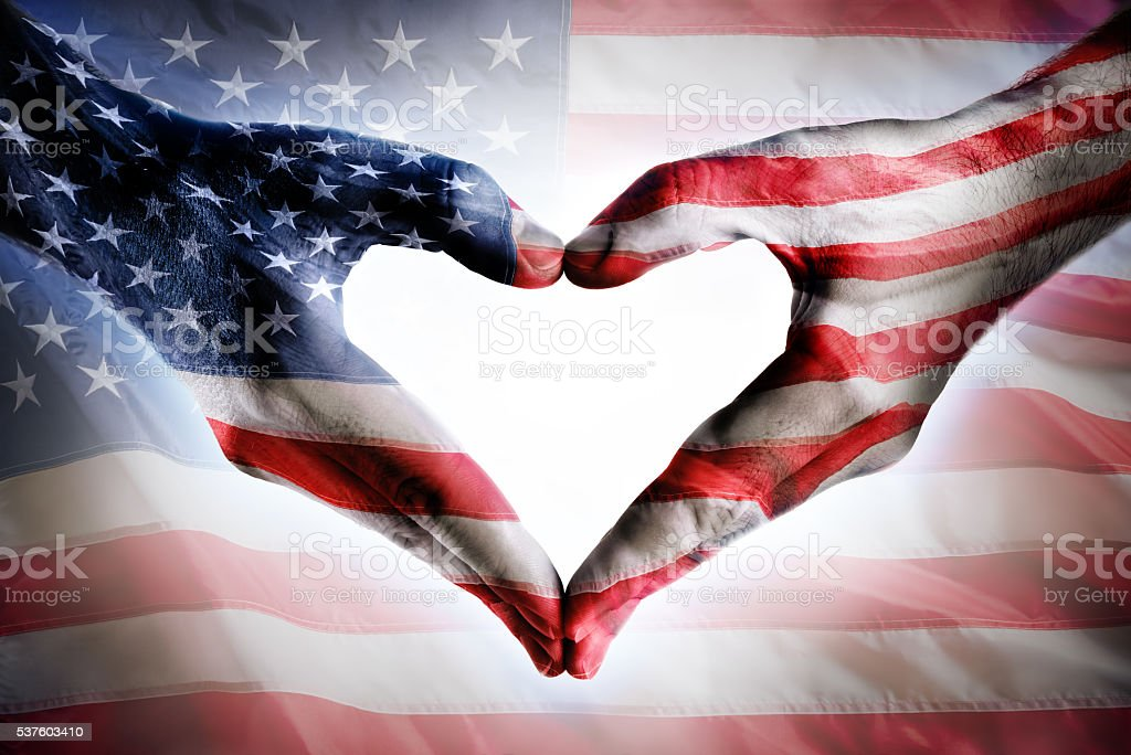 Love, Honor And Patriotism For Usa stock photo