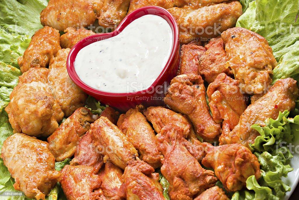 I Love Hot Wings stock photo
