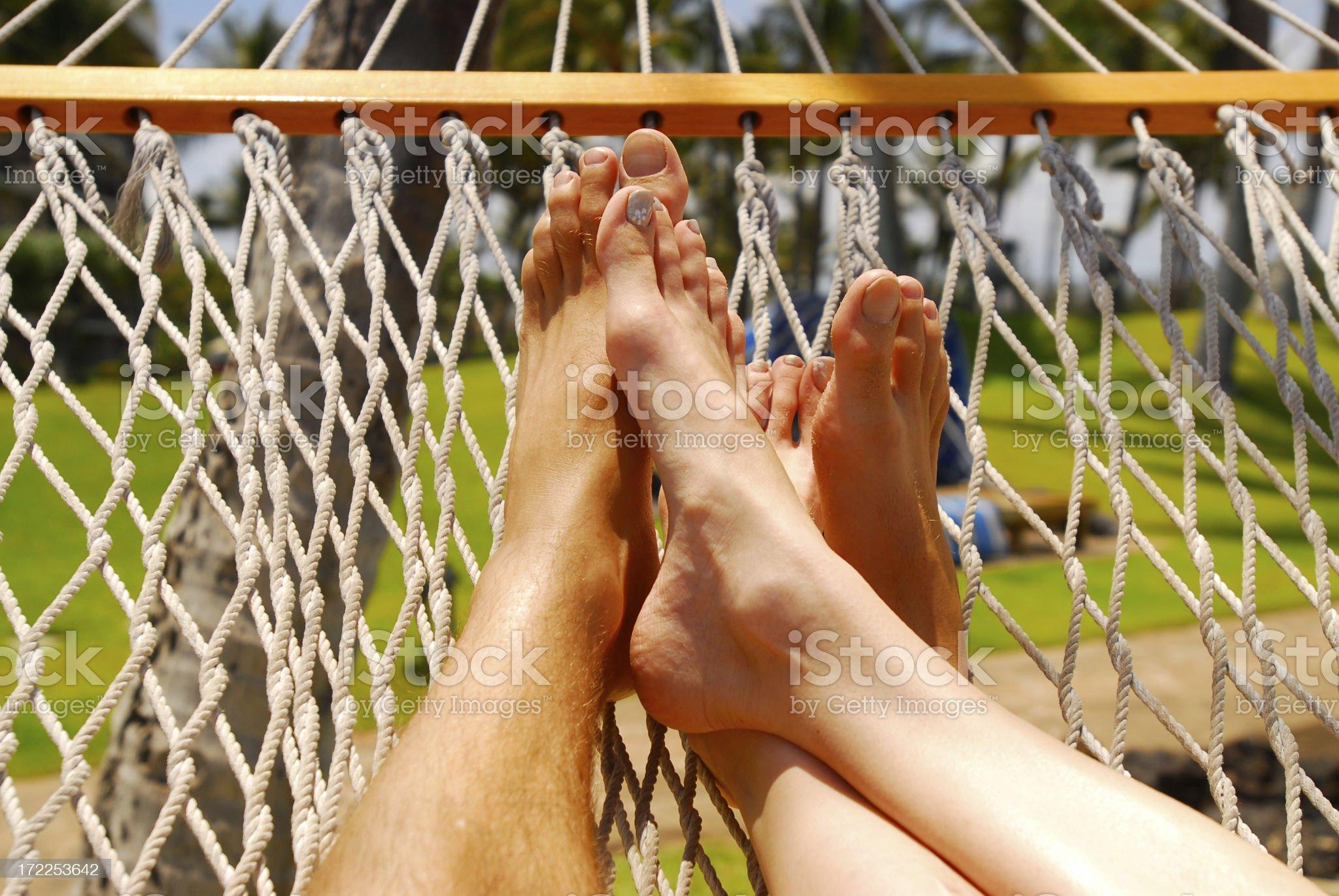 Love in a hammock royalty-free stock photo