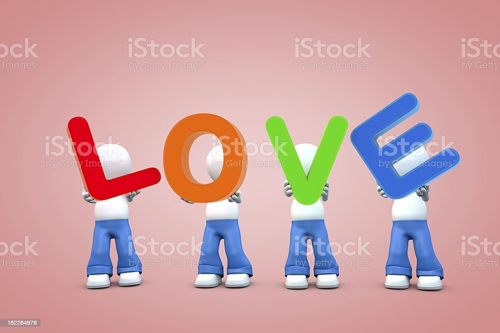 love in boy's hands stock photo