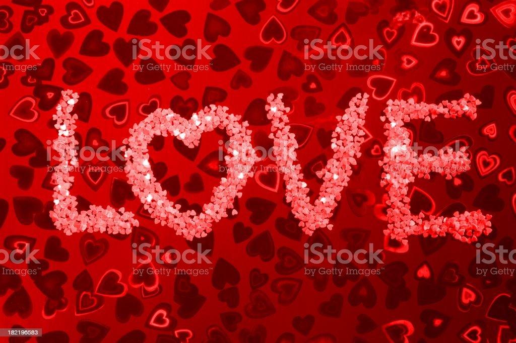 Love in Glitter Hearts stock photo