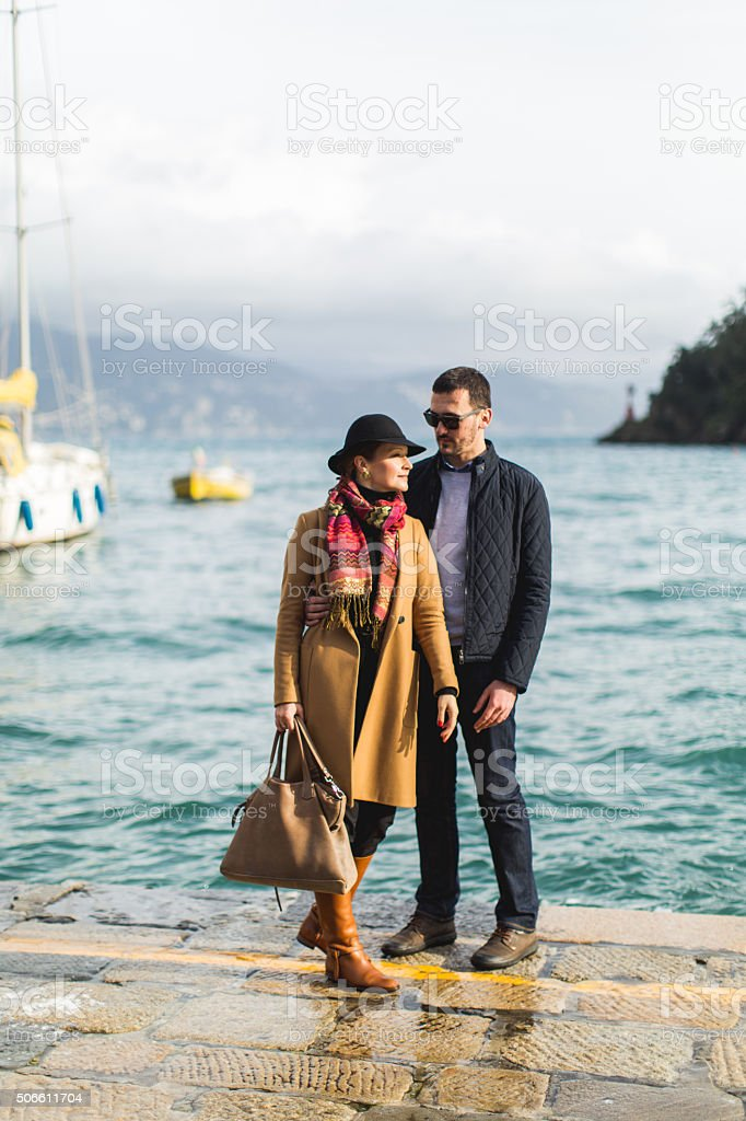 Love in Portofino stock photo