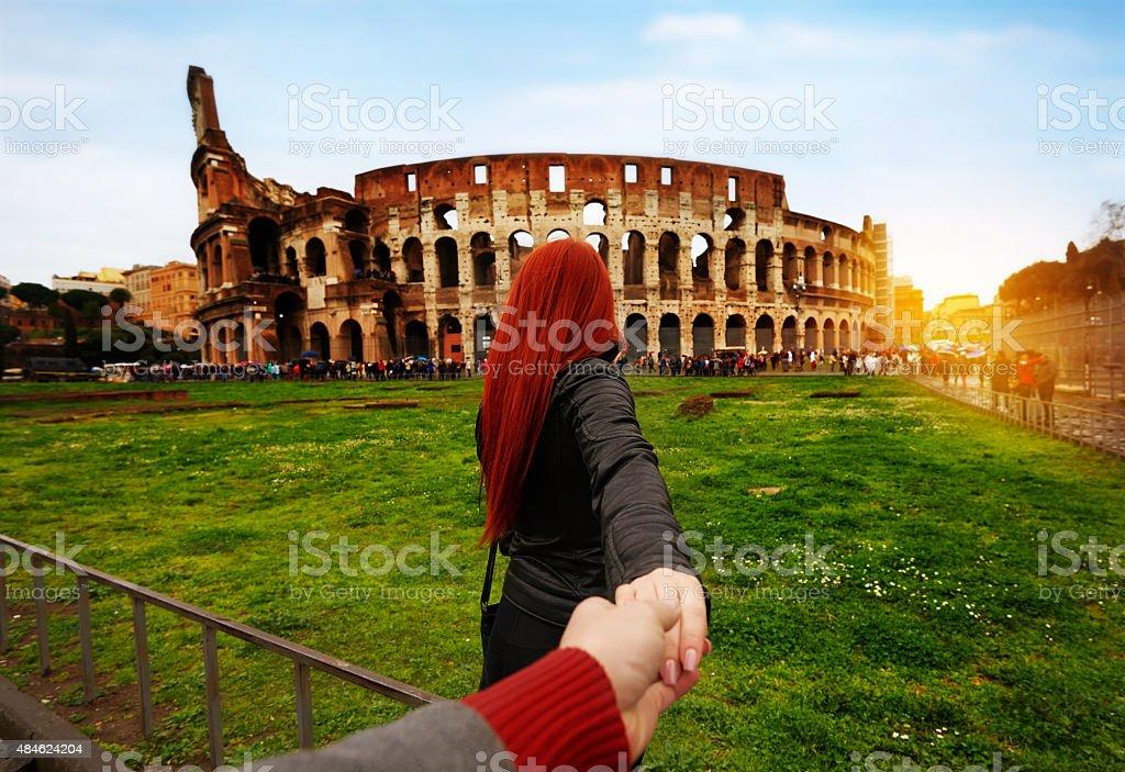 love in Rome stock photo
