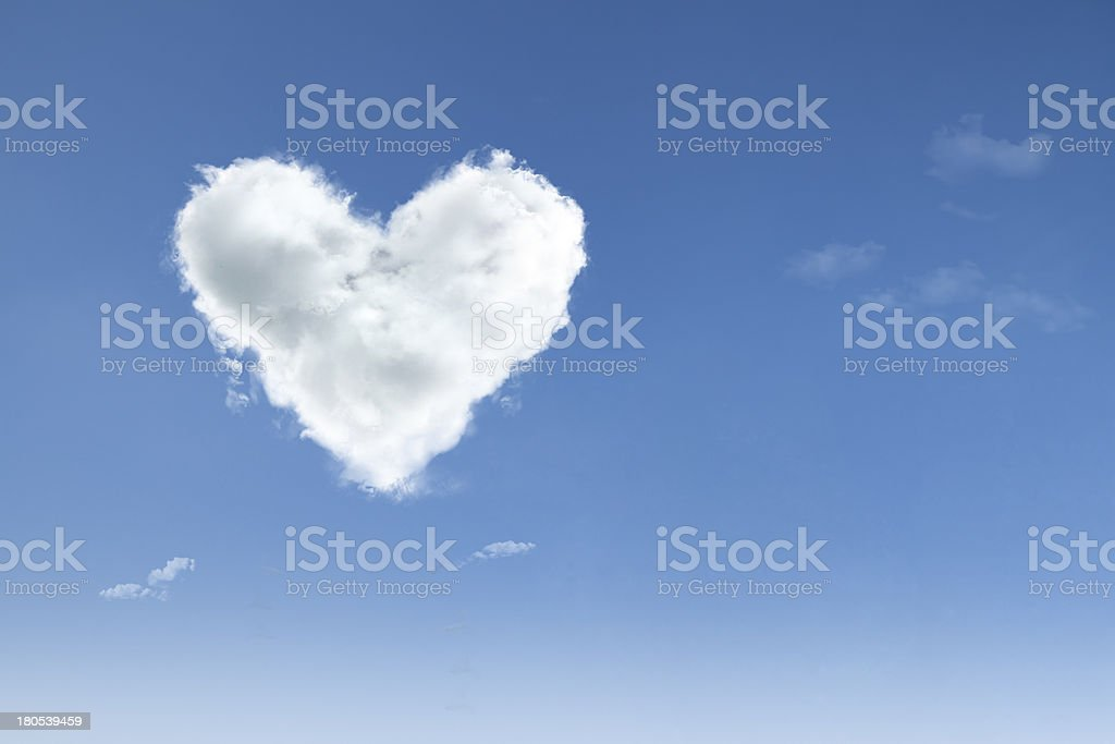 Love in the air on blue sky stock photo
