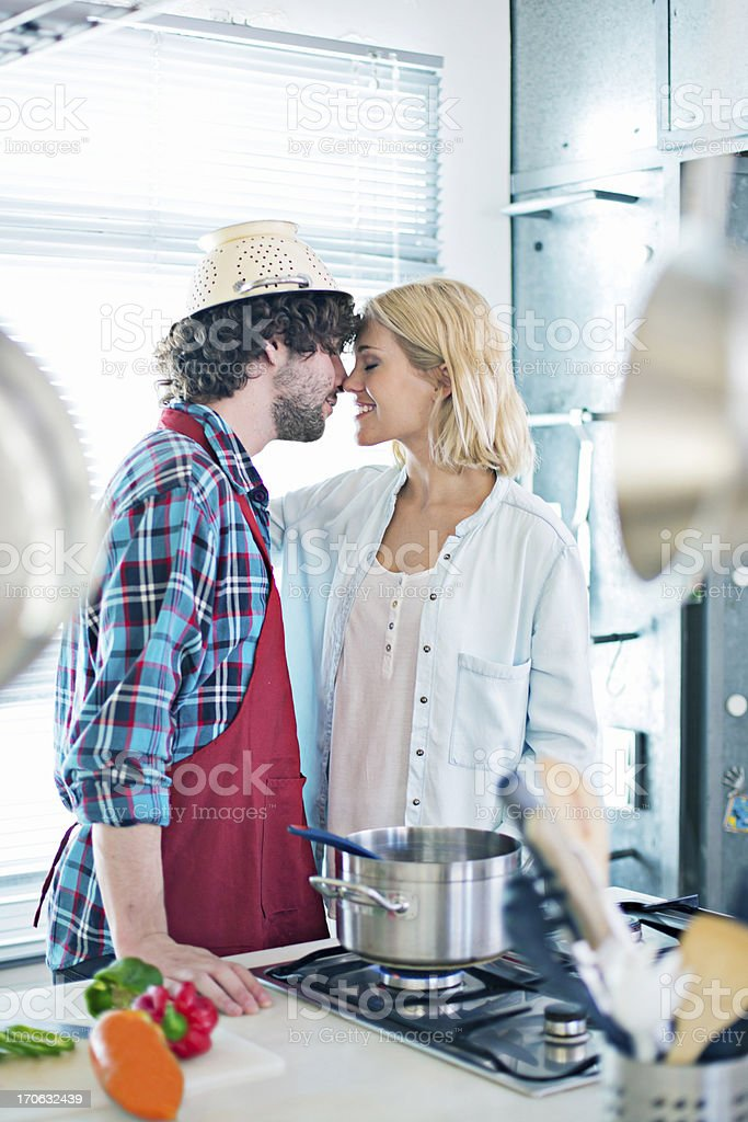 Love in the kitchen royalty-free stock photo