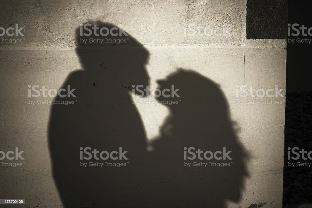 Love in the Shadows royalty-free stock photo