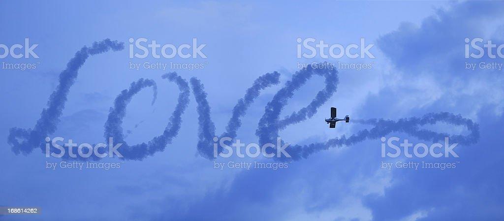 love in the sky stock photo