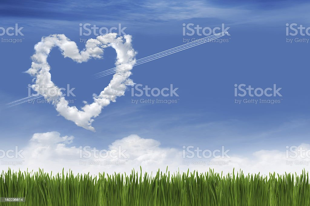 Love In The Sky royalty-free stock photo