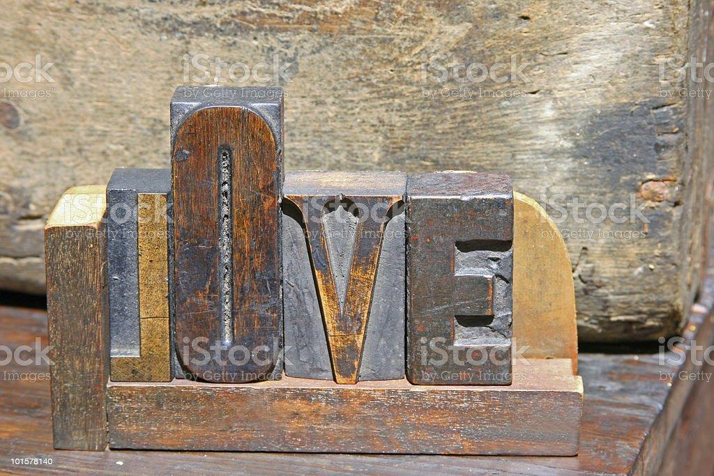 Love in Typeset royalty-free stock photo