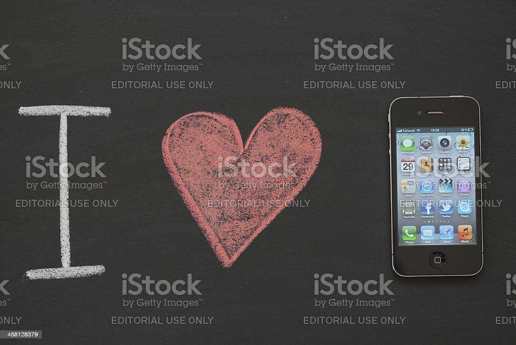I love iPhone royalty-free stock photo