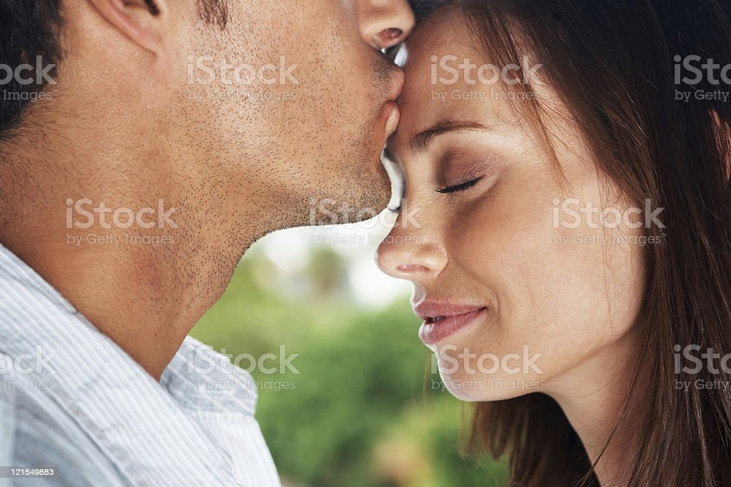 Love is a dream that comes alive when we meet stock photo