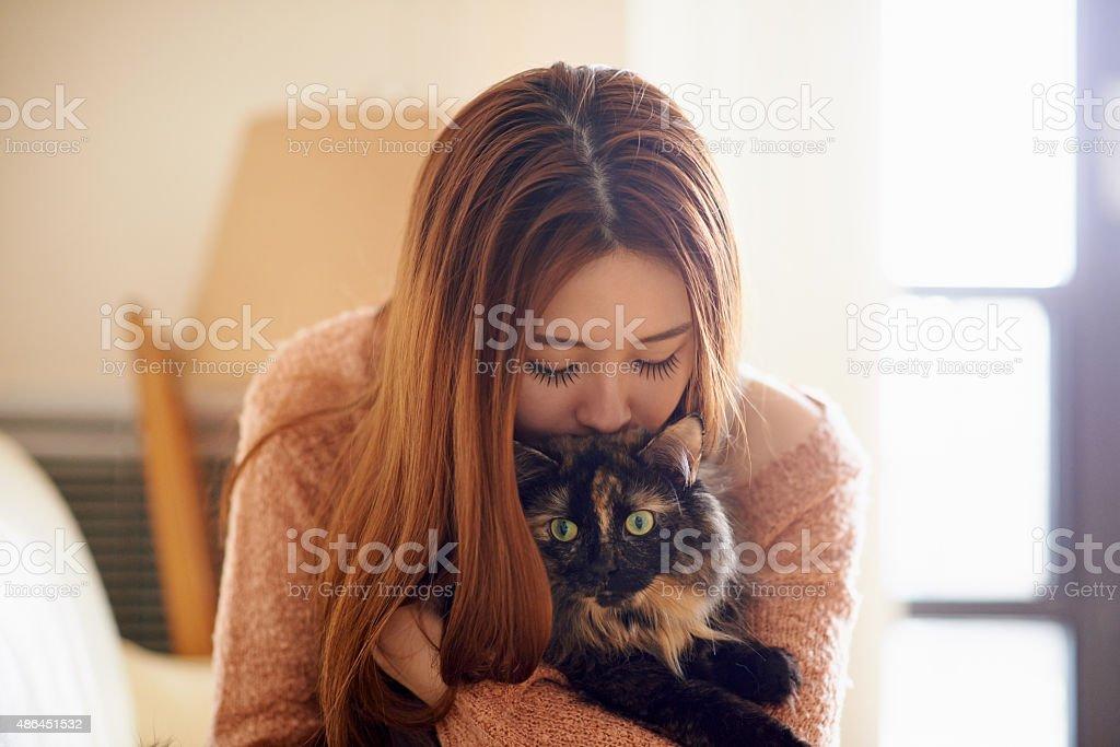 Love is a four legged word stock photo