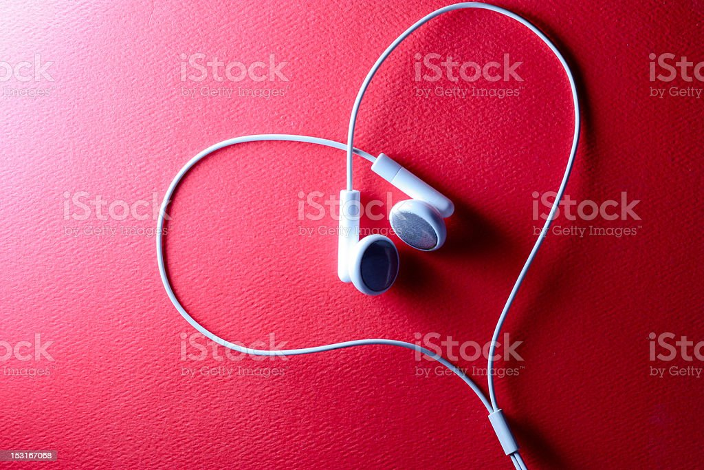 Love is in the music stock photo