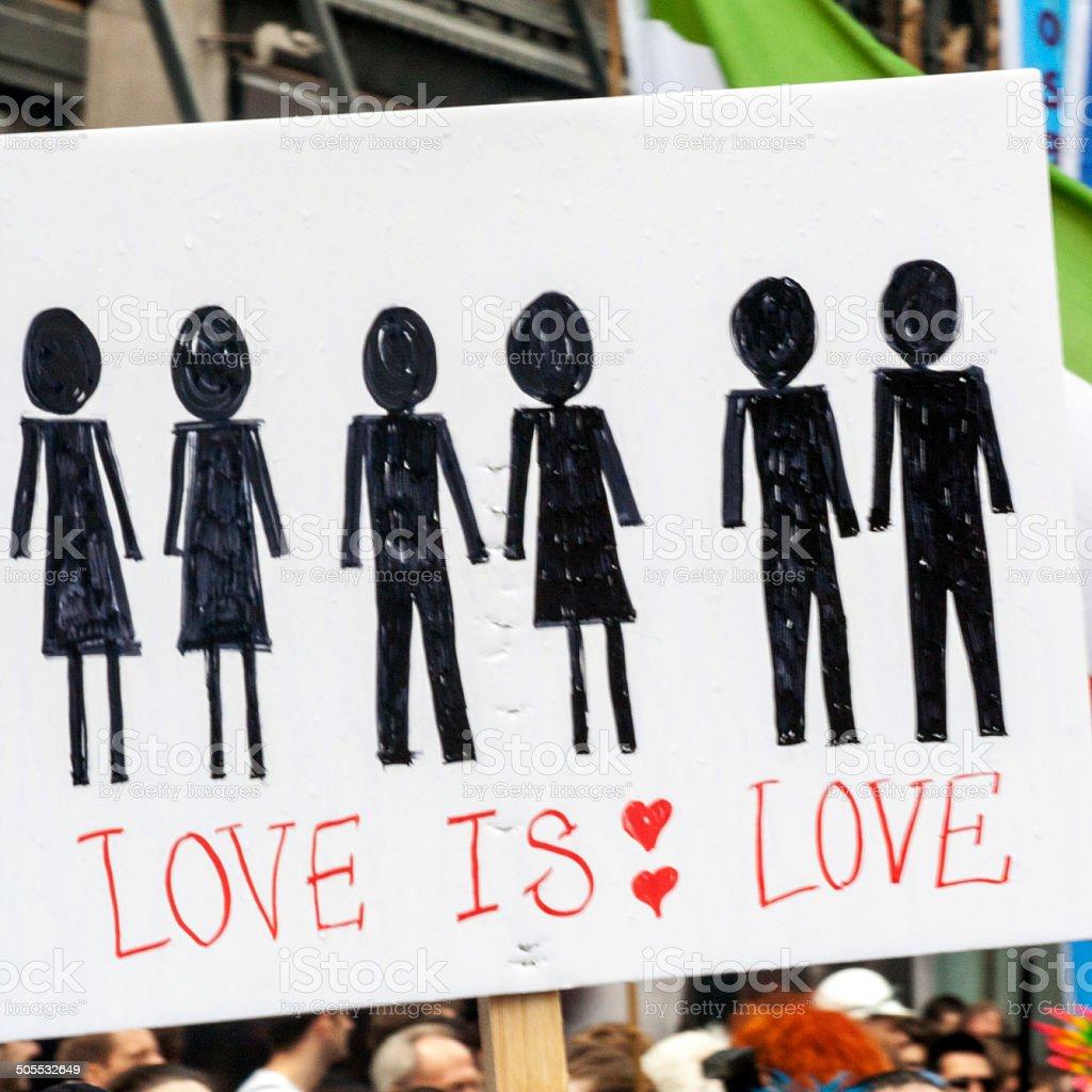 Love Is Love stock photo