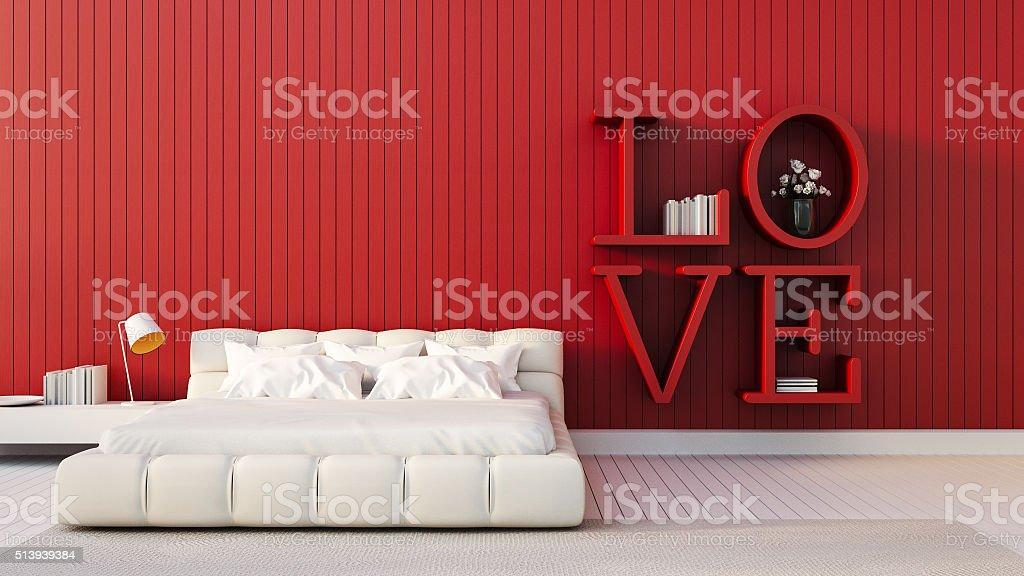 Love is more - modern Bedroom stock photo