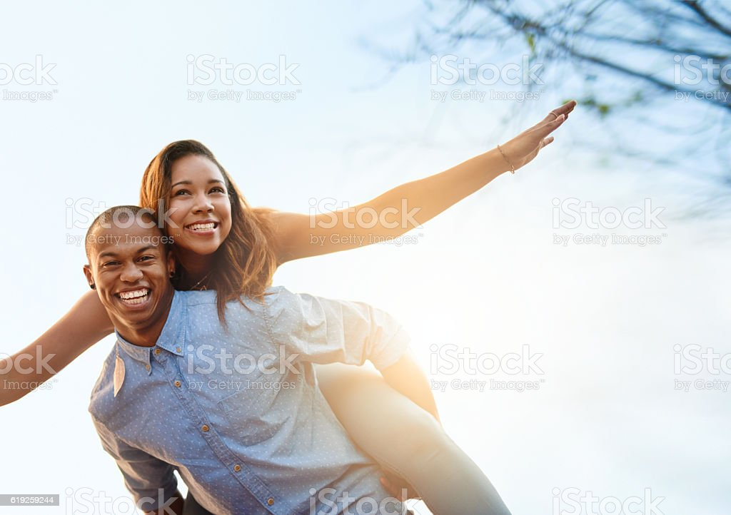 Love is one crazy ride stock photo