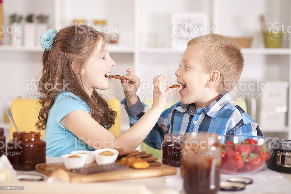 Love is sharing. stock photo