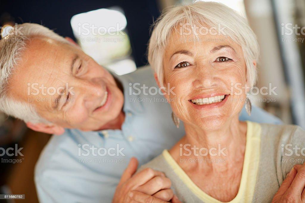Love is the secret to longevity stock photo