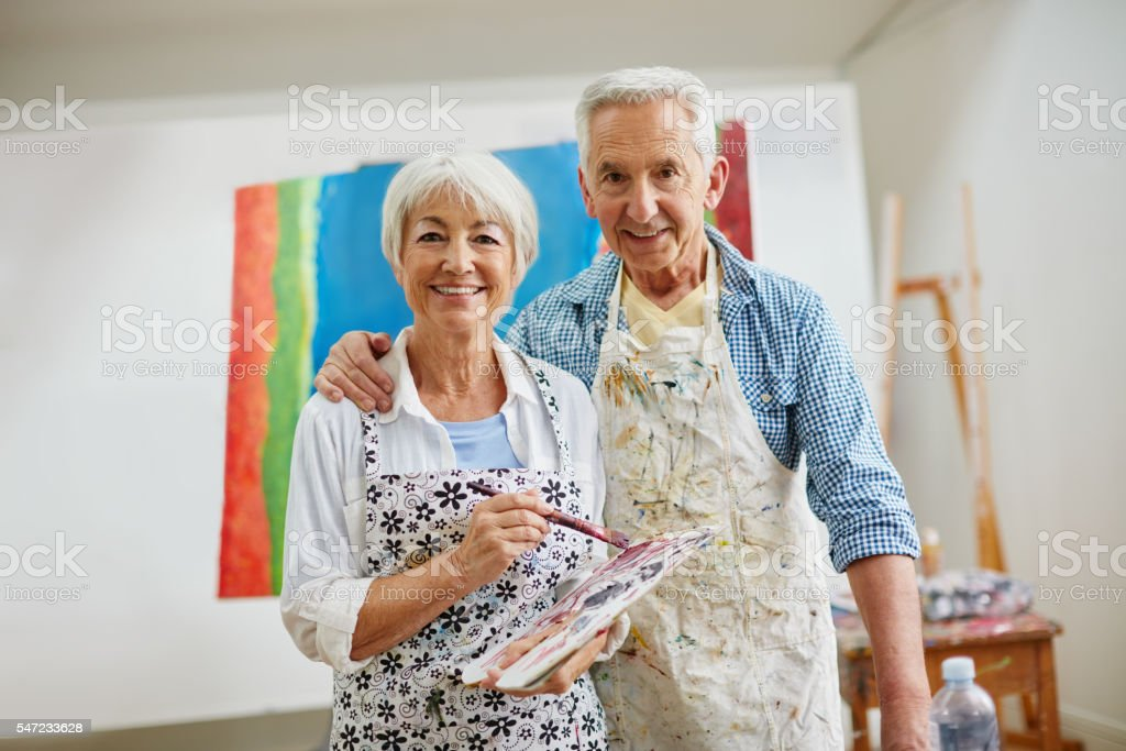 Love is the spirit that motivates the artist's journey stock photo