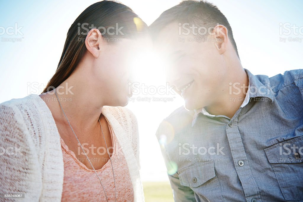 Love is what the heart feels stock photo