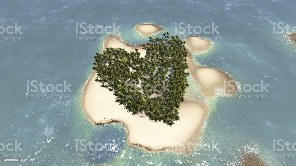 Love island stock photo