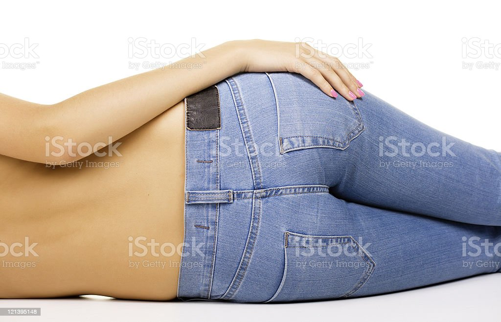 Love jeans stock photo