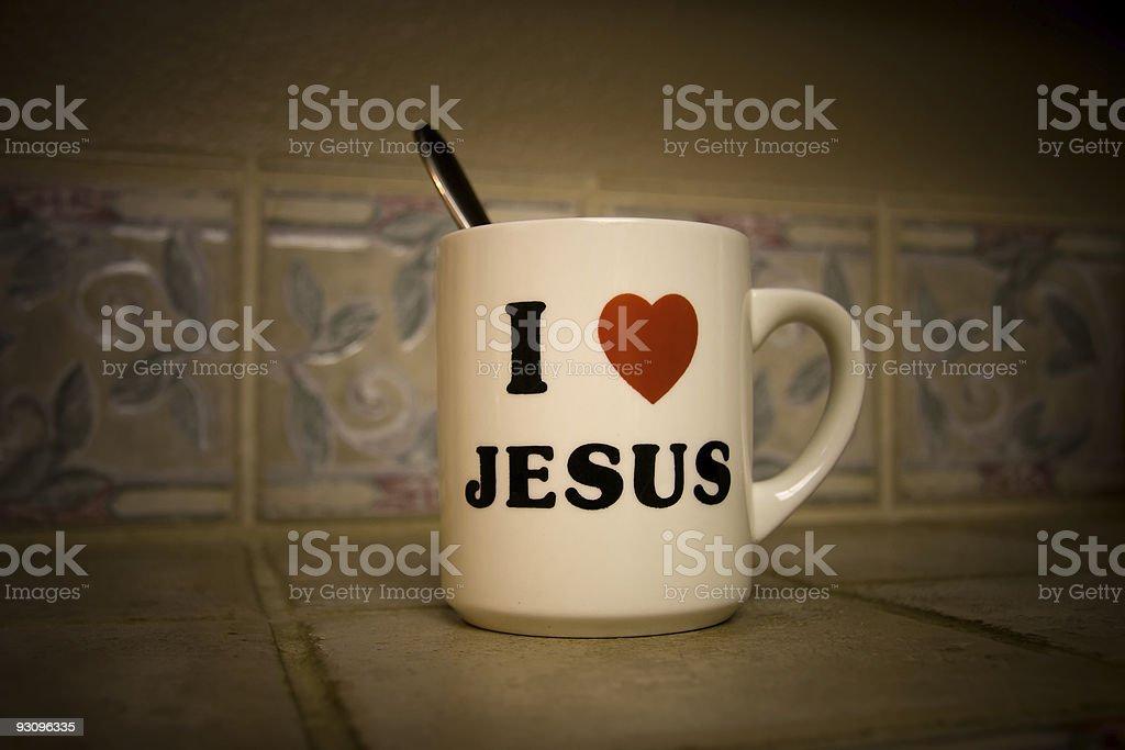 Jesus Cup stock photo