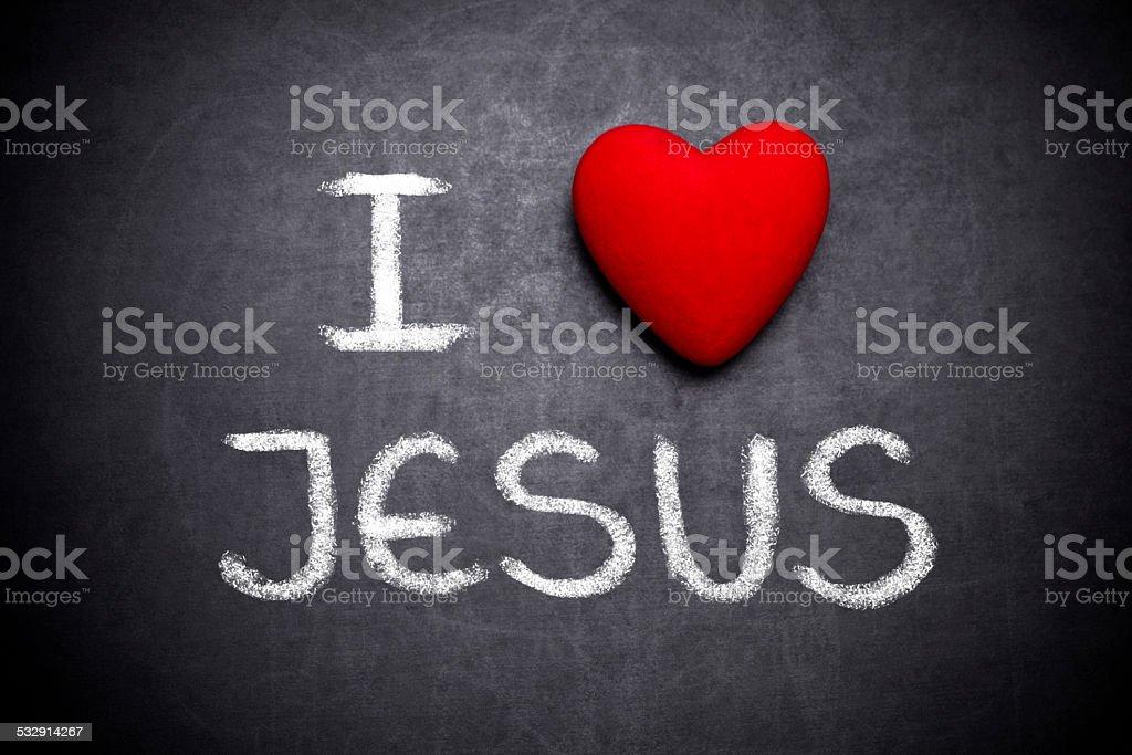 I love Jesus stock photo