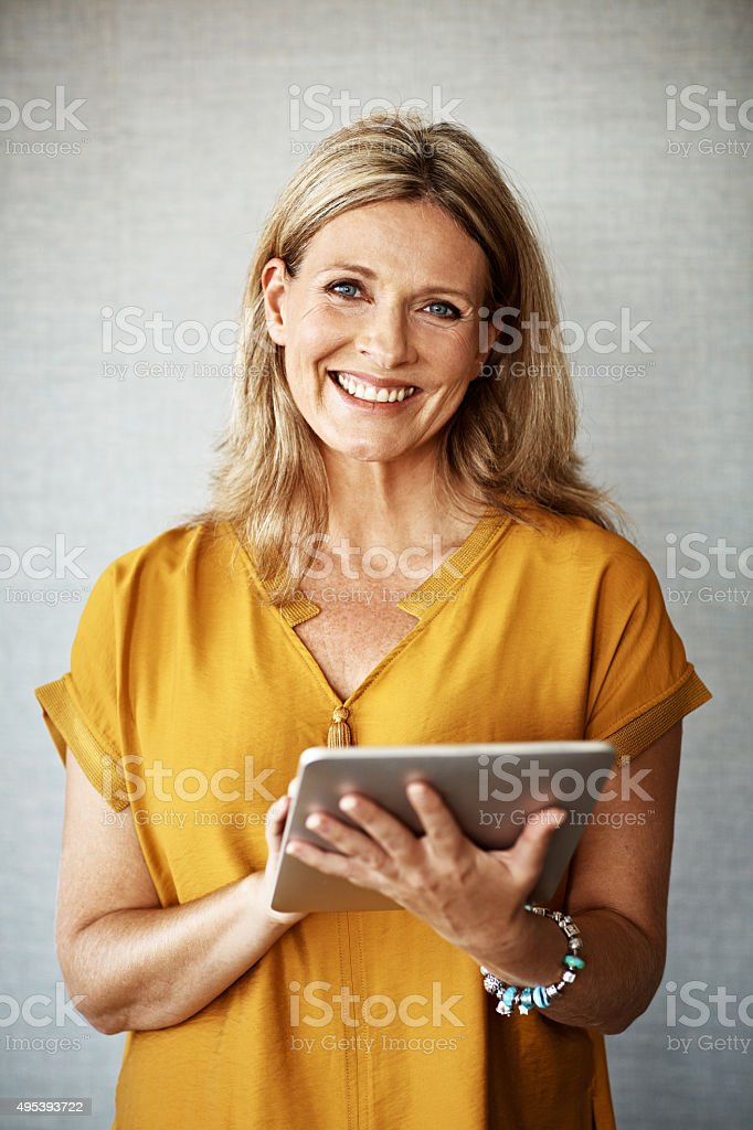 I love keeping connected stock photo