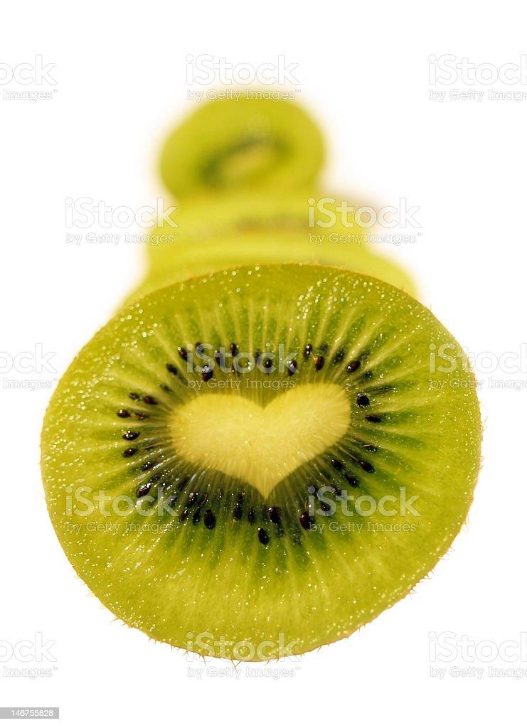 love - kiwi heart royalty-free stock photo