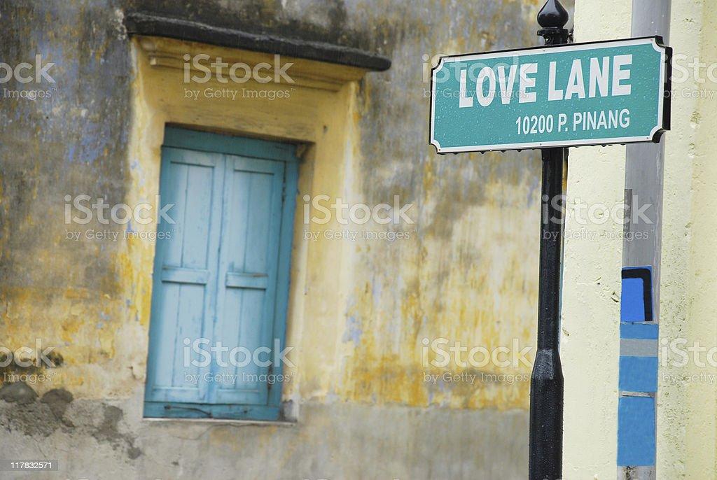 Love Lane royalty-free stock photo