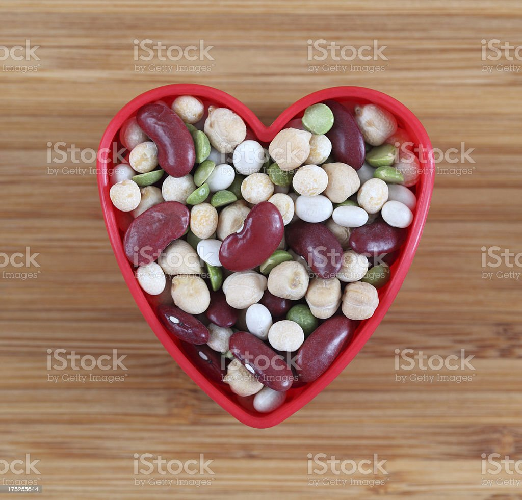 I love legume beans stock photo