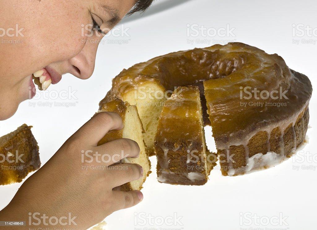 I love lemon cake royalty-free stock photo