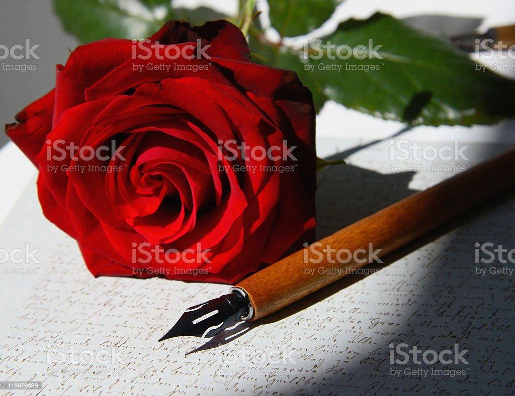 Love Letter in the sun stock photo