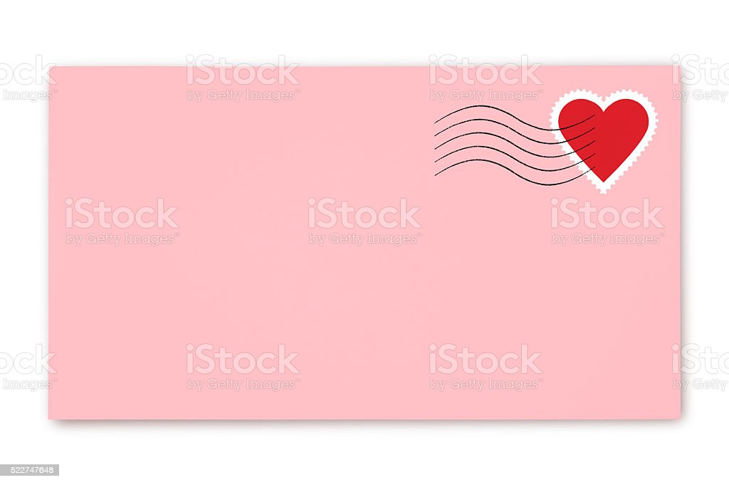 Love Letter (with path) stock photo