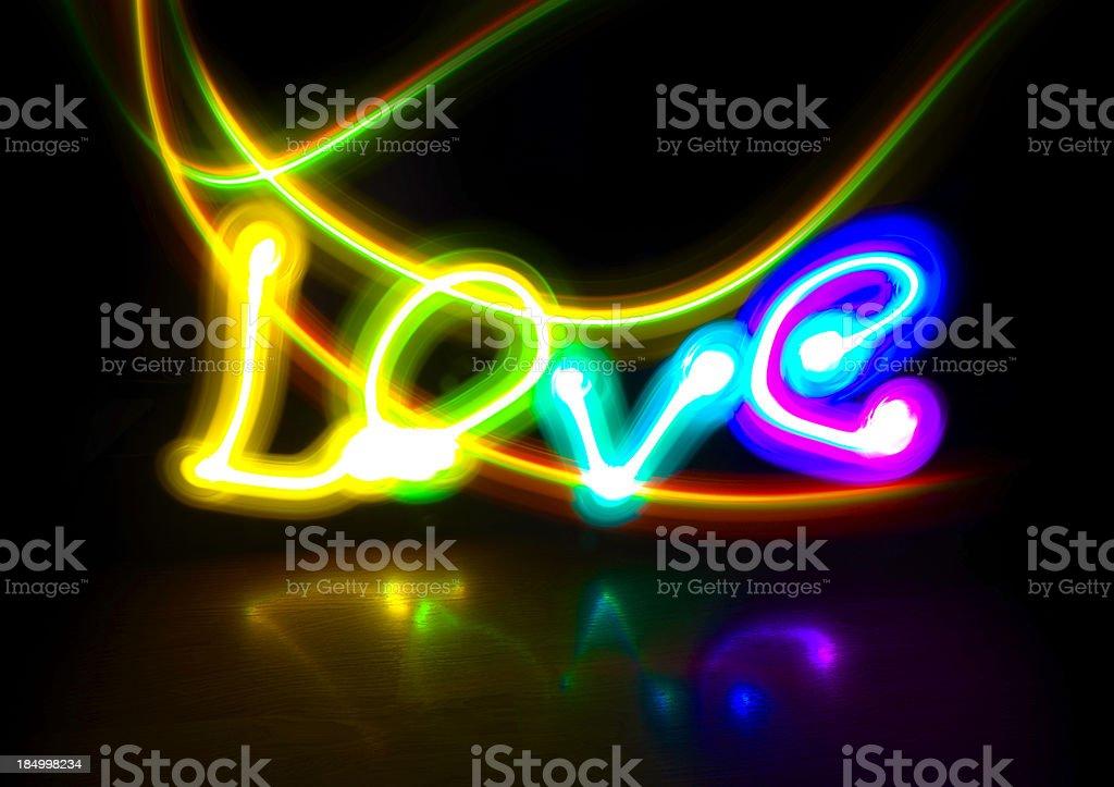 love light painting royalty-free stock photo