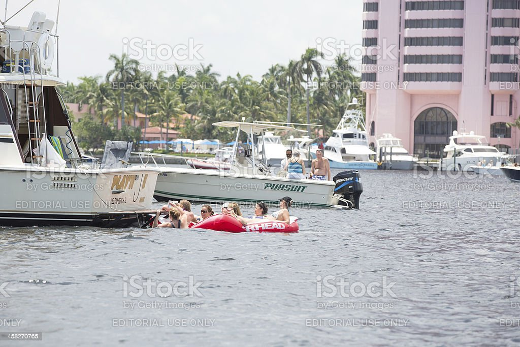 Love Local:  Boating on the ocean royalty-free stock photo