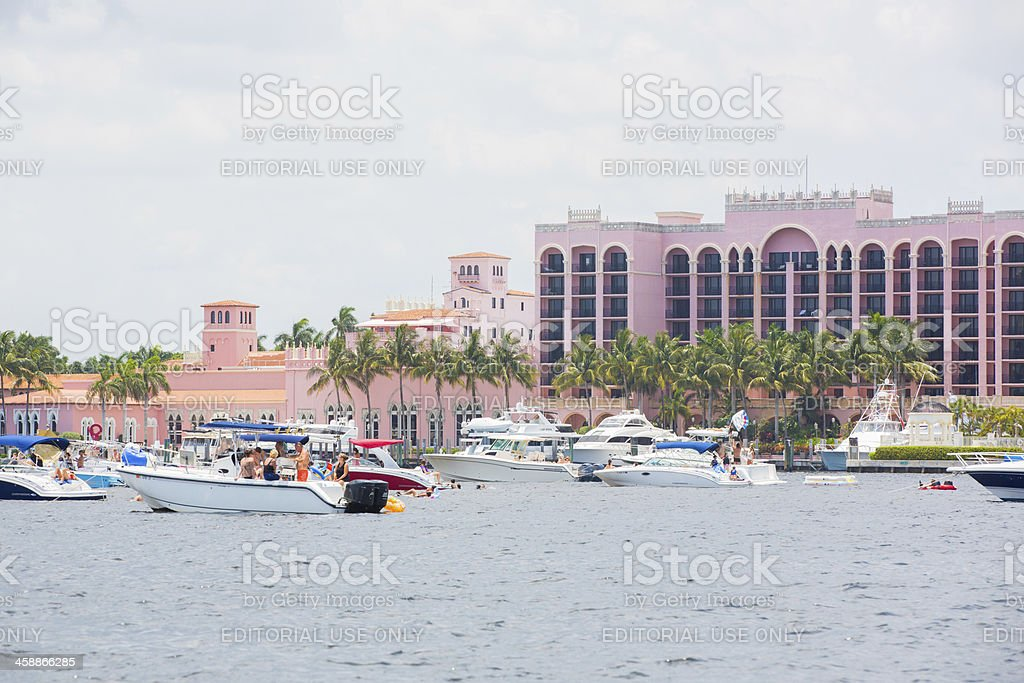Love Local:  Boating on the ocean stock photo