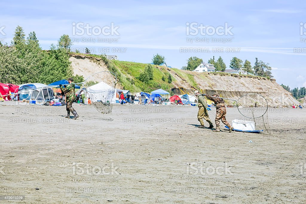 Love Local: Dip net fishing in Kenai Alaska royalty-free stock photo