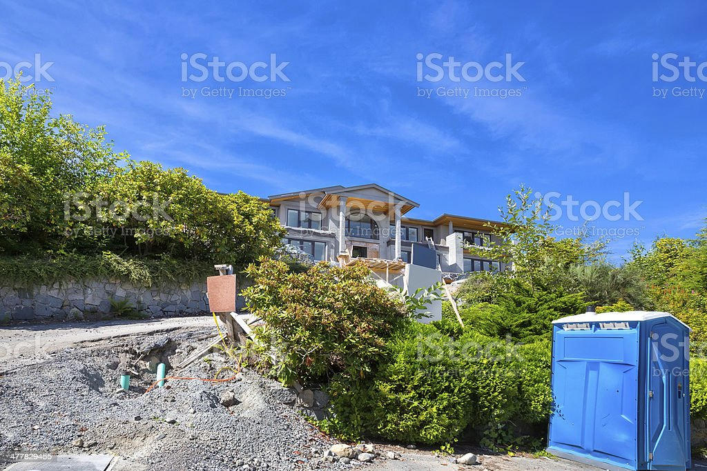 Love Local: New Modern home being constructed in West Vancouver royalty-free stock photo